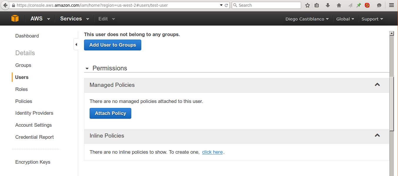 Permisos de Usuario Amazon S3