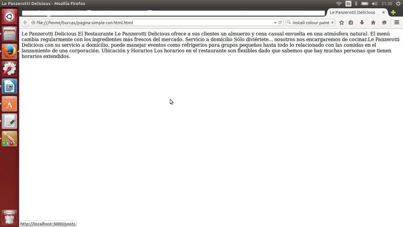 como hacer una pagina simple con html
