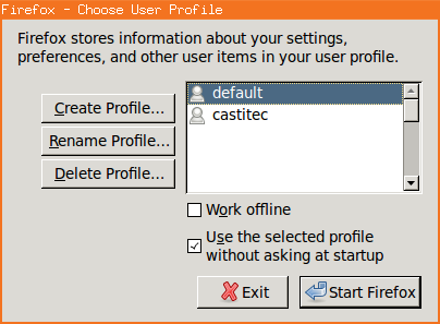 Usar varios perfiles de Firefox