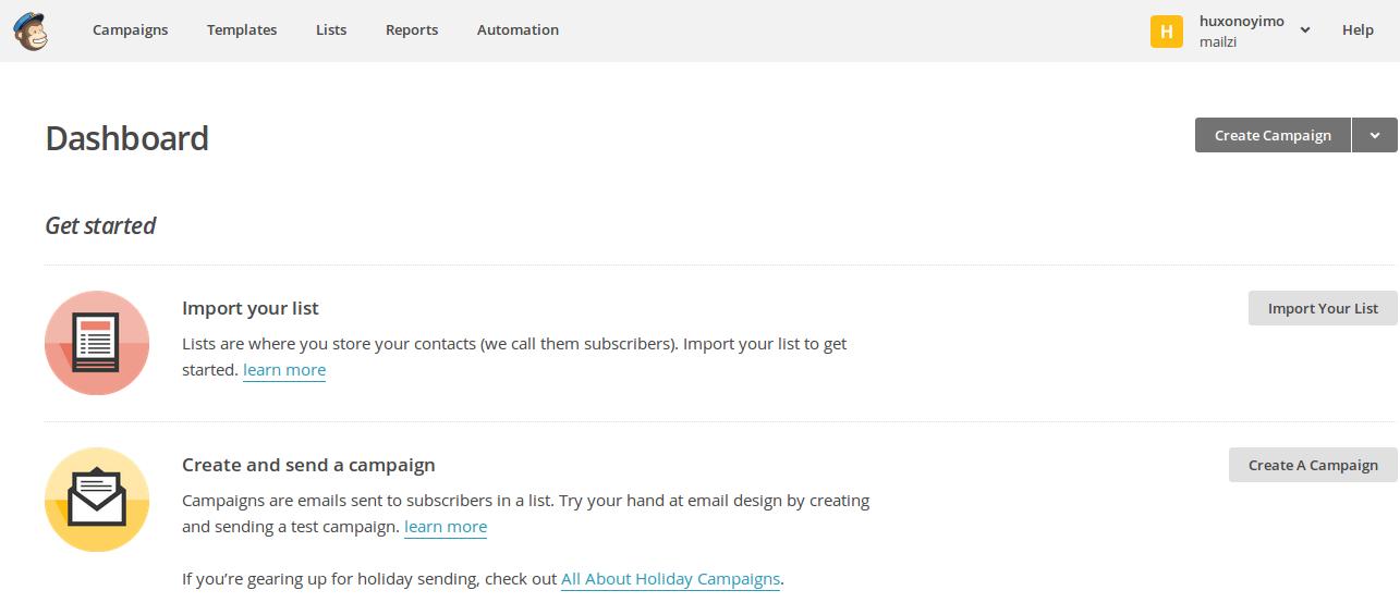 Crear cuenta Mailchimp